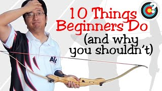 One of NUSensei's most viewed videos: Archery Tips | 10 Things Beginners Do (And Why You Shouldn't)