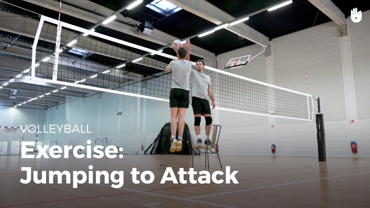 Exercise Jumping To Attack Volleyball Youtube