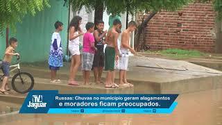 Russas: Chuvas no município geram alagamentos e moradores ficam preocupados.