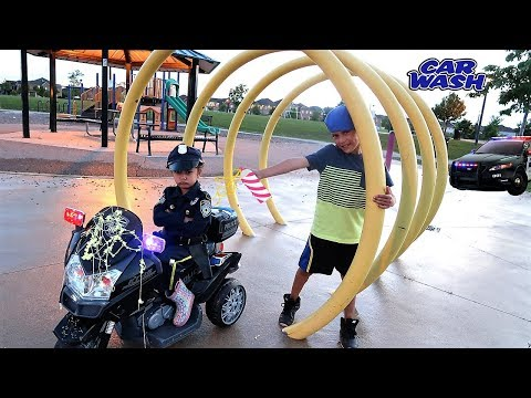 Police Chase Kids driving power wheels ride on car  Hzhtube Kids Fun