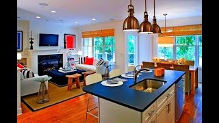 Decorating Ideas For Small Open Living Room And Kitchen Youtube