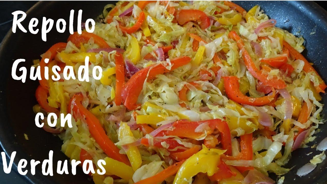 Download Repollo Guisado con Cebolla y Pimientos(Col)Receta Deliciosa y Saludable. #verduras #repolloguisado