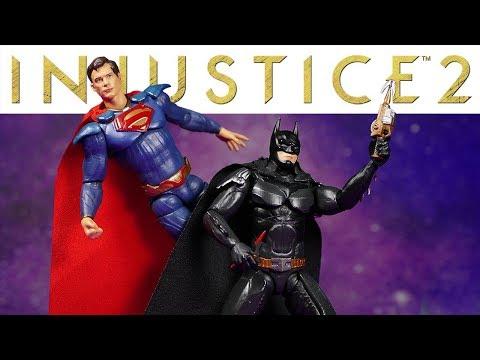 HIYA Toys Injustice 2 Exquisite Mini 1/18 Superman & Batman Action Figure Review