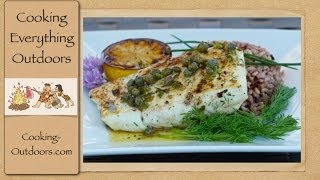 Grilled Halibut With Lemon Caper Sauce
