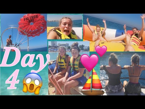 CYPRUS DAY 4 🚢 - Parasailing, Boat Trip To The Blue Lagoon & Swimming With Fish!!😱🐠