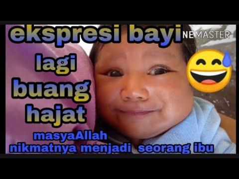 EKSPRESI BAYI LAGI BUANG HAJAT ||MASYAALLAH... Nikmat ...