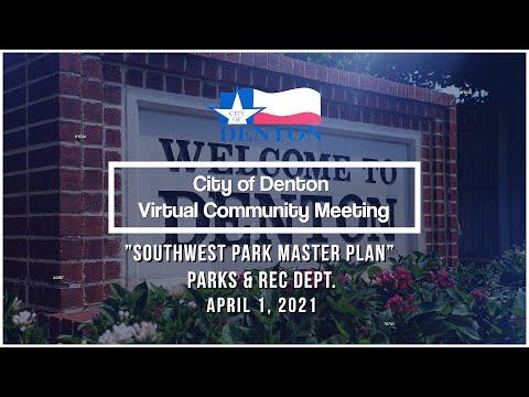 Virtual Community Meeting | Southwest Park, April 1
