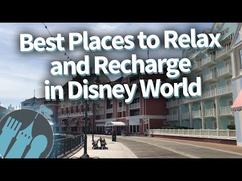 SECRET Spots To Relax And Recharge In Disney World!