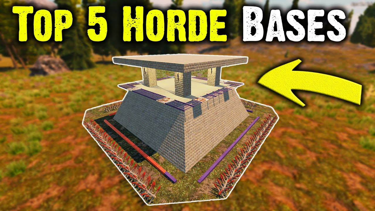 Top 5 Best Horde Night Base Builds 7 Days To Die Alpha 18 4 Youtube