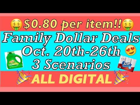 Family Dollar Deals//3 Scenarios ++ 10 Items For $0.80 Per Item!!// ALL DIGITAL $5 Off $25