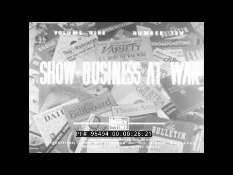 """"""" SHOW BUSINESS AT WAR """" 1943 WORLD WAR II HOLLYWOOD & BROADWAY SUPPORT OF VICTORY EFFORT 95494"""