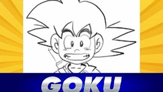 Como dibujar a Goku de Dragon Ball | How to draw Goku - Tutorial