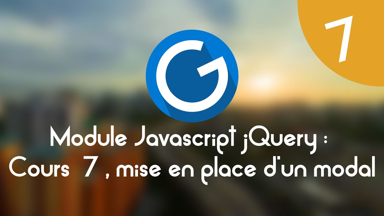 Download Formation IMM - Module Javascript jQuery: Cours tuto 7, mise ne place d'un effet modal