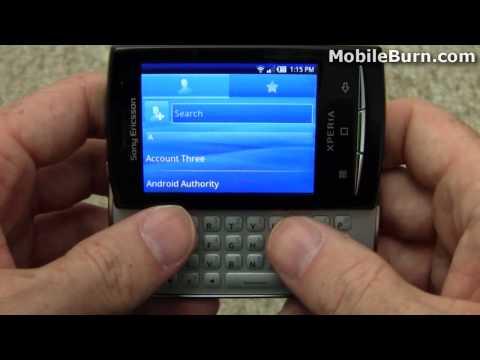 Sony Ericsson Xperia X10 mini and mini pro video tour - part 1 of 2