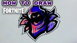How to Draw fortnite Raven Logo easy | Fortnite