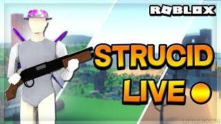 Roblox Strucid Live Stream With Friends *1v1s* #ROADTO3000SUBS