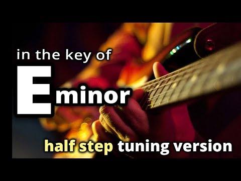 HALF STEP tuning ★ E minor GUITAR BACKING TRACK ★ Melodic Hard Rock