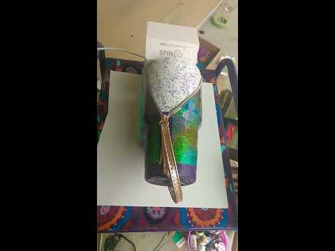 Glitter zipper epoxy tumbler