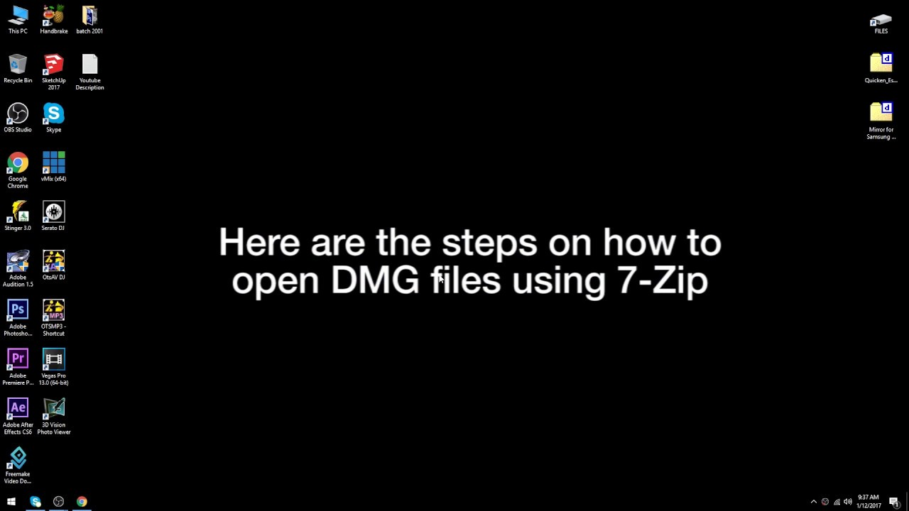 opening dmg files on windows
