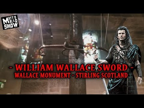 William Wallace Sword - Wallace Monument Vlog - STIRLING SCOTLAND