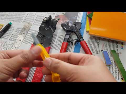 Easy way to cut ceramic tiles for mosaic