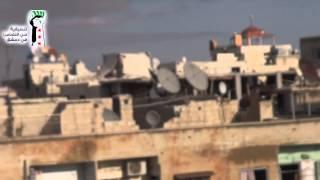 دمشق:حي التضامن : الدمار الحاصل في سوق الثلاثاء