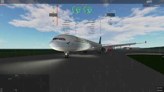 Roblox | TROUBLE IN TOPHON | Cathay Pacific A330-300 in crosswind