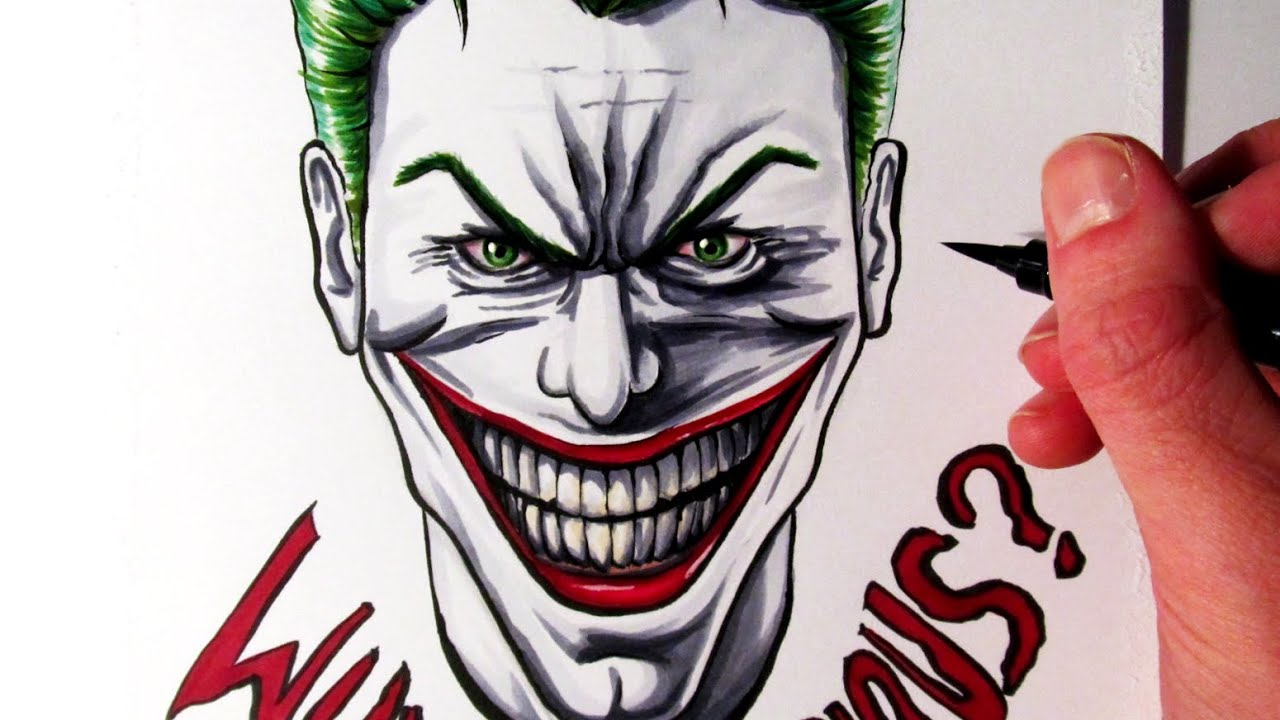 Joker Scribble Drawing : Cool joker drawings pixshark images galleries