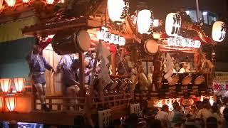 熊谷うちわ祭6巡行叩き合い2018.7.21八木橋百貨店(デパート)前・鎌倉...