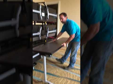 "Revolution® 18"" Training Tables with Model REV-TTT Transport Cart by PS Furniture"