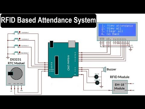RFID Based Attendance System using Arduino, RTC & LCD Display