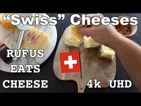 Rufus Eats Cheese - Episode 4 - Swiss Cheese Or Not - Jarlsberg Cheese, Emmentaler, Old Amsterdam