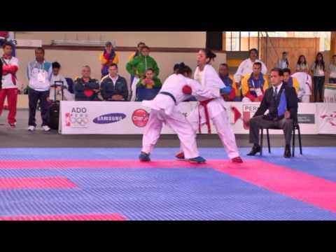 Bronce de María Castellanos en karate en Juegos Bolivarianos