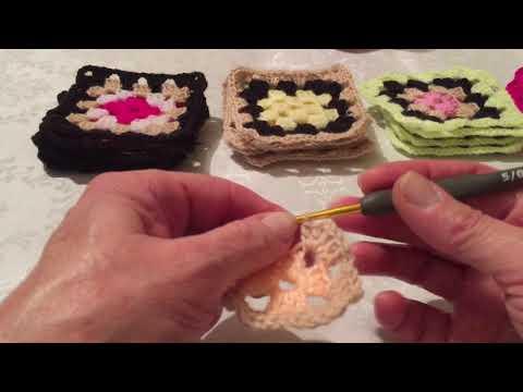 Видео уроки бабушкины квадраты крючком