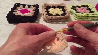 Бабушкин квадрат. Видео урок.Вязание крючком.