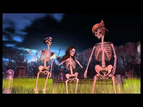 Skeletons Dancing to the Ghost town.