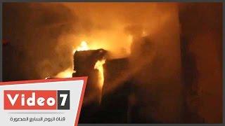 حريق هائل بمصنع مراتب أسفنج بالقناطر الخيرية