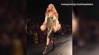 No shoe, no problem! Gigi Hadid loses heel, still fierce at NYFW   @ NEWSXPS