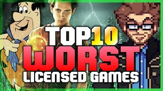 Top 10 WORST Licensed Games! - Austin Eruption thumbnail