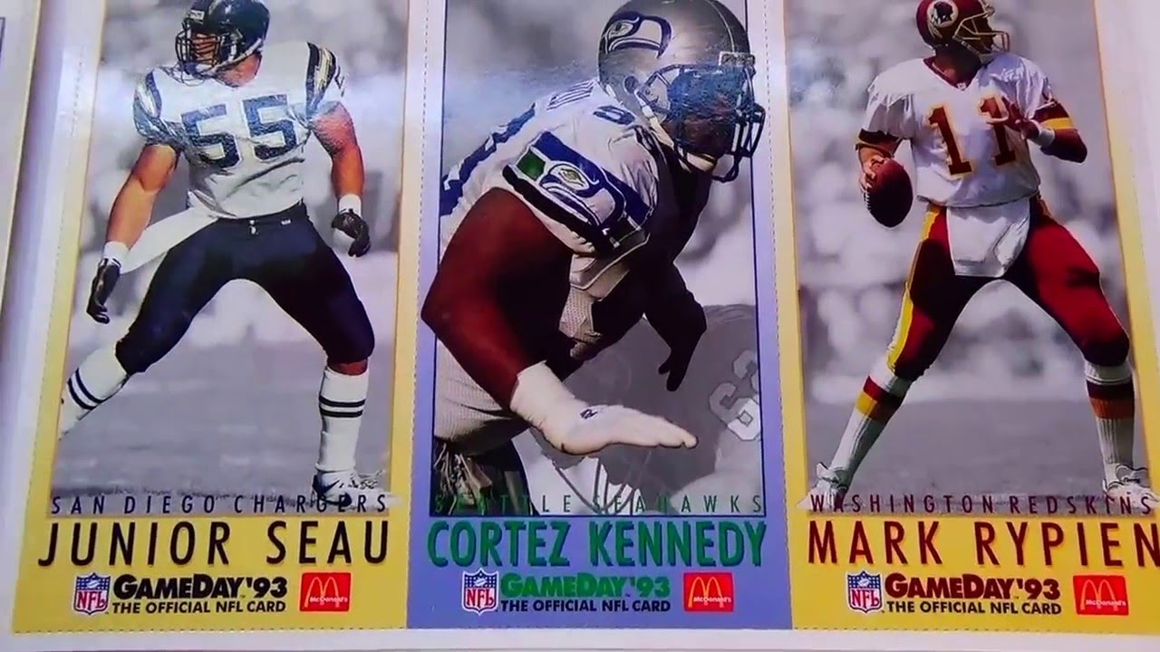 1993 mcdonald u0027s limited edition football cards auction find 18