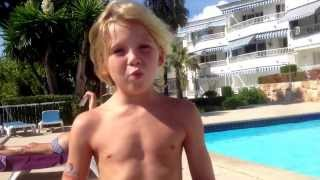 Archie shows you how to do a front flip 180 into the pool