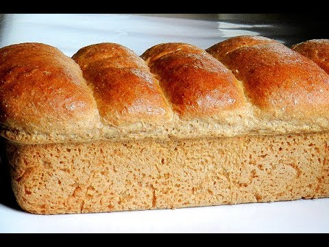 WHOLE WHEAT BREAD | 100% Whole Wheat Soft Bread Recipe
