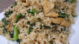 Chicken Fried Rice With Chinese Broccoli Recipe ( Delicious )