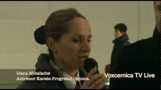 Cupa Karate-Mos Craciun-Balaceanca-Interviu Ioana Mihalache-Nica Marian