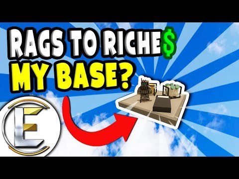 MY BASE? | Unturned Roleplay Rags to Riches Reboot #22 - New Sky Base (RP) thumbnail