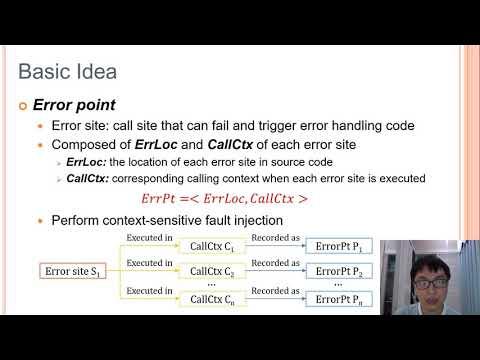 USENIX Security '20 - Fuzzing Error Handling Code Using Context-Sensitive Software Fault Injection