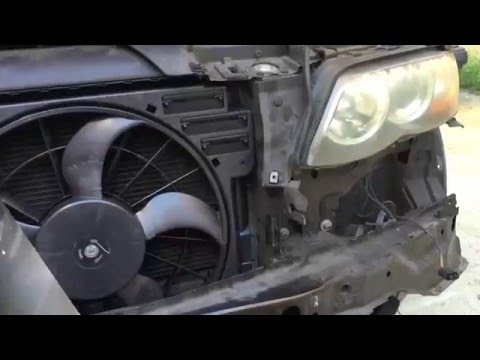 Bmw X5 Replacing Auxiliary Fan E53 After 10 03 Youtube
