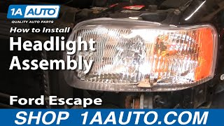 For 2001 2002 2003 2004 Ford Escape Headlight Headlamp Pair Set Replacement CAPA