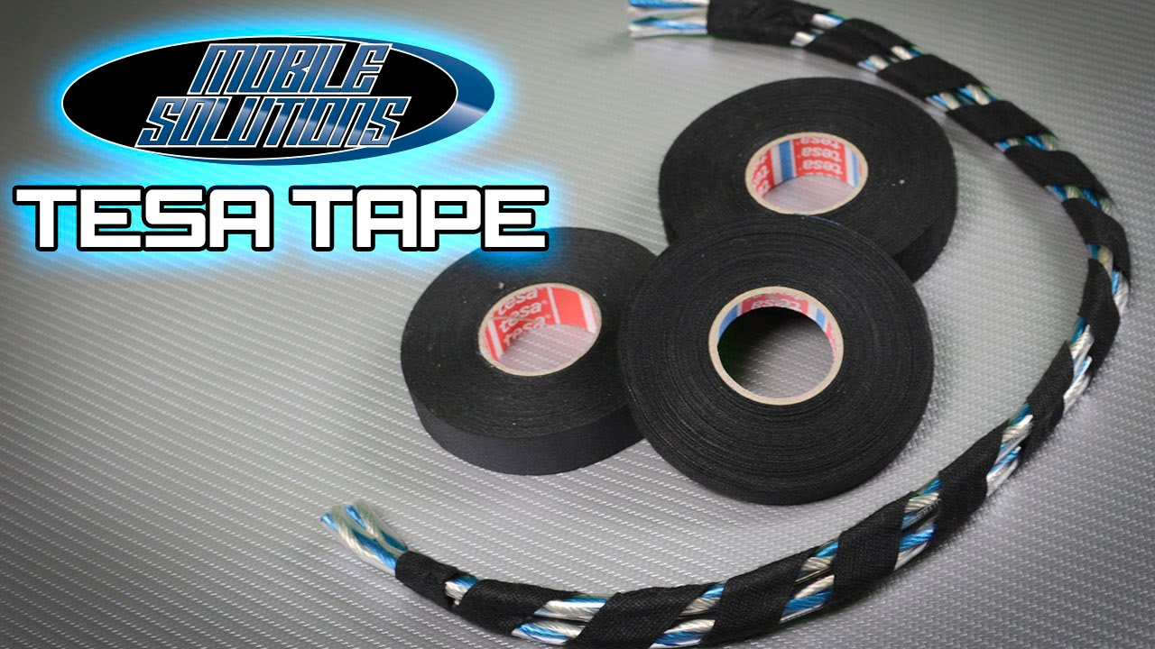 maxresdefault tesa tape now in stock at mobile solutions! youtube tesa wire loom harness tape at edmiracle.co
