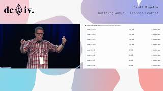 Building Augur - Lessons Learned by Scott Bigelow (Devcon4)
